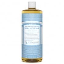 Dr.Bronner's Castille Unscented Baby Mild Organic Liquid Soap 1 litre