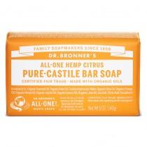 Dr.Bronner's Castille Citrus Orange Organic Soap Bar 140g