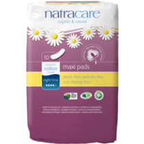Natracare Natural Pads Night Time 10's